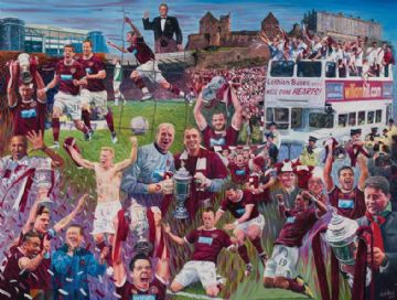 Heart of Midlothian Scottish Cup Print  2012